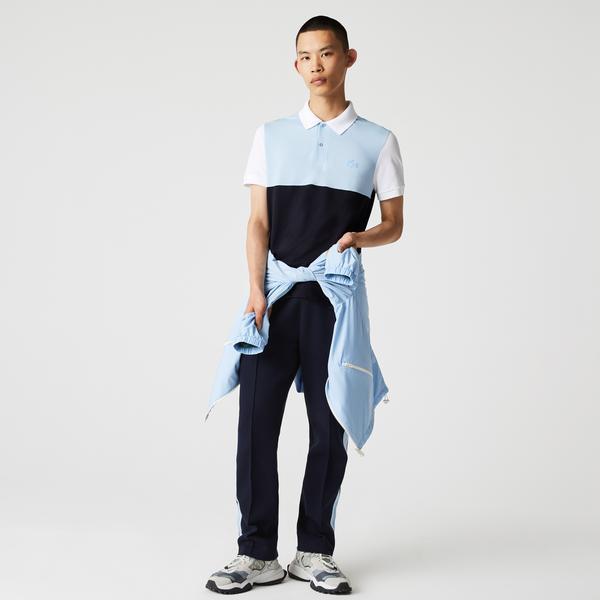 Lacoste Erkek Regular Fit Renk Bloklu Lacivert Polo
