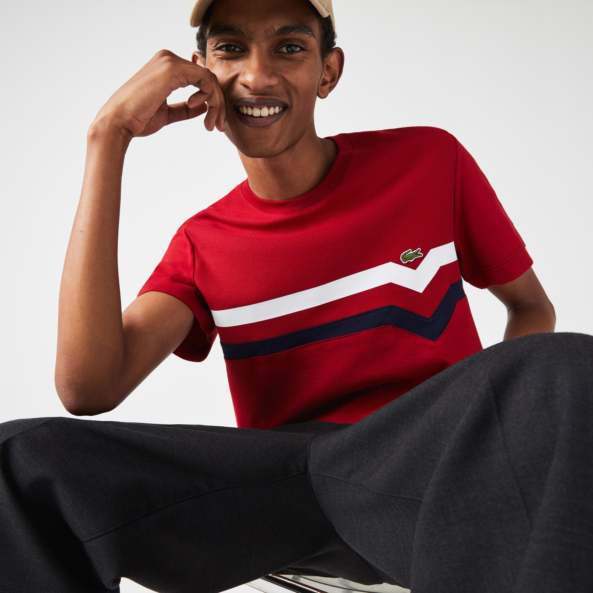 Lacoste Men?s Made In France Striped Organic Cotton T-Shirt