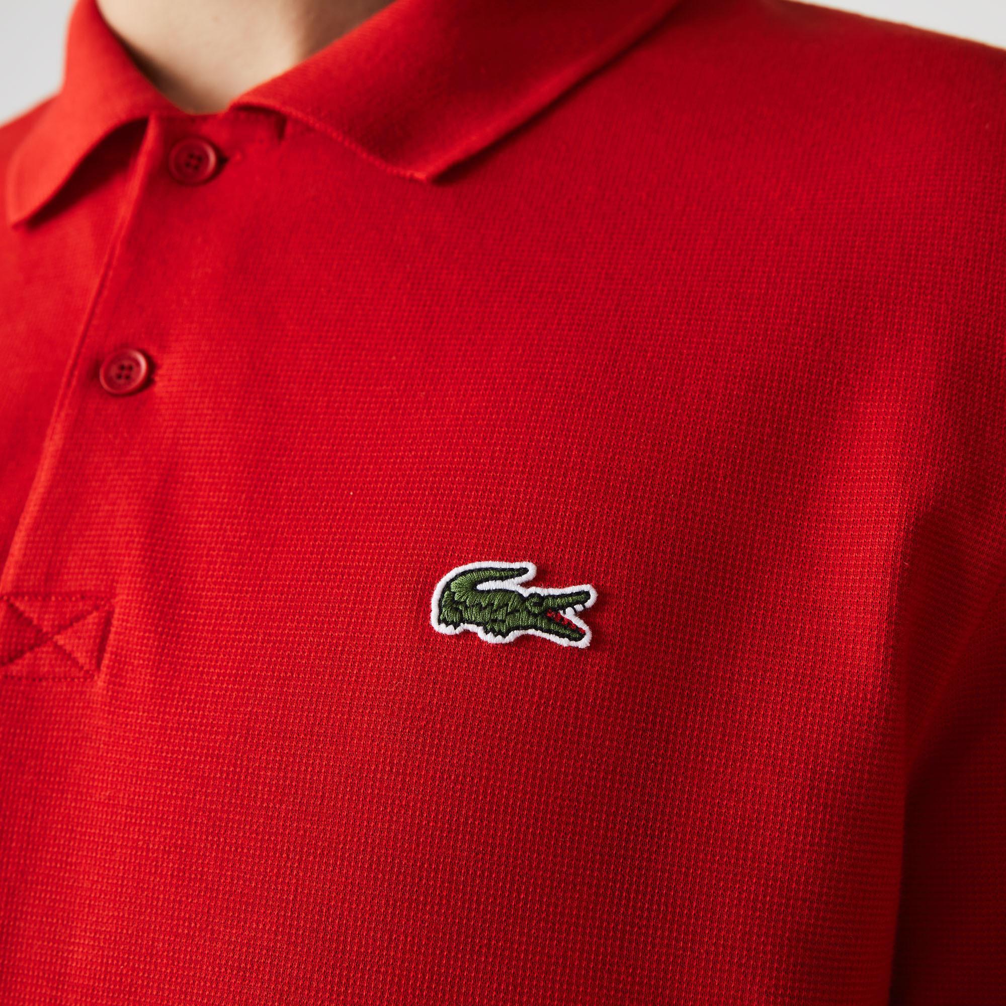 Lacoste Erkek Regular Fit Renk Bloklu Kırmızı Polo