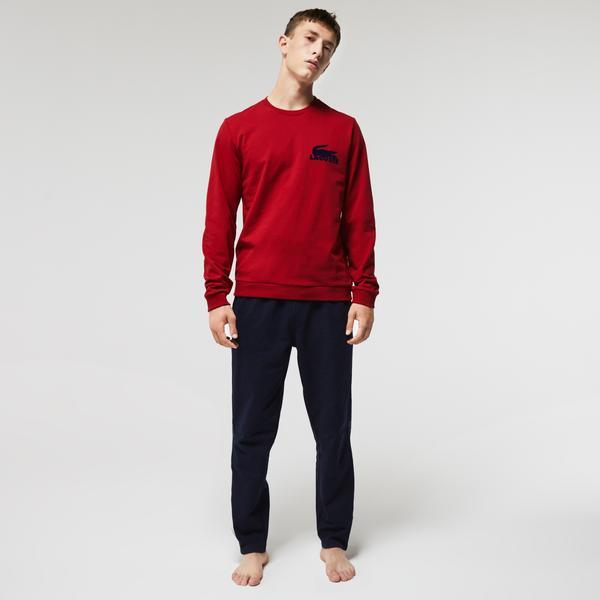Lacoste Erkek Bisiklet Yaka Kırmızı Sweatshirt