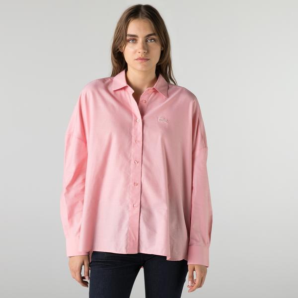 Lacoste Kadın Relaxed Fit Pembe Gömlek
