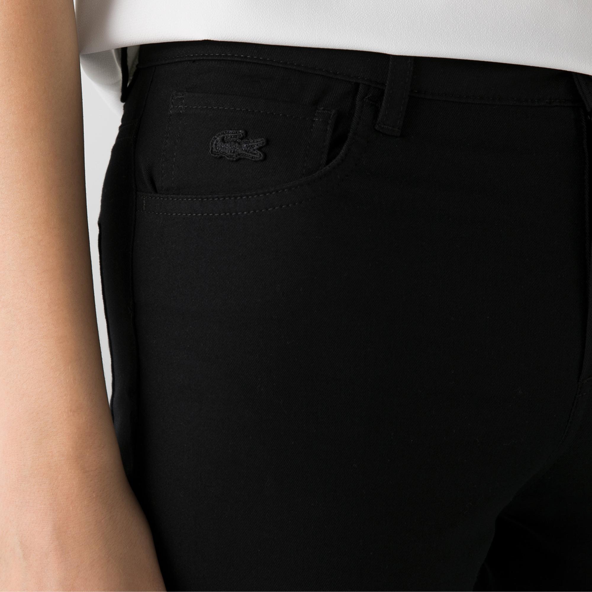 Lacoste Kadın Slim Fit Siyah Pantolon