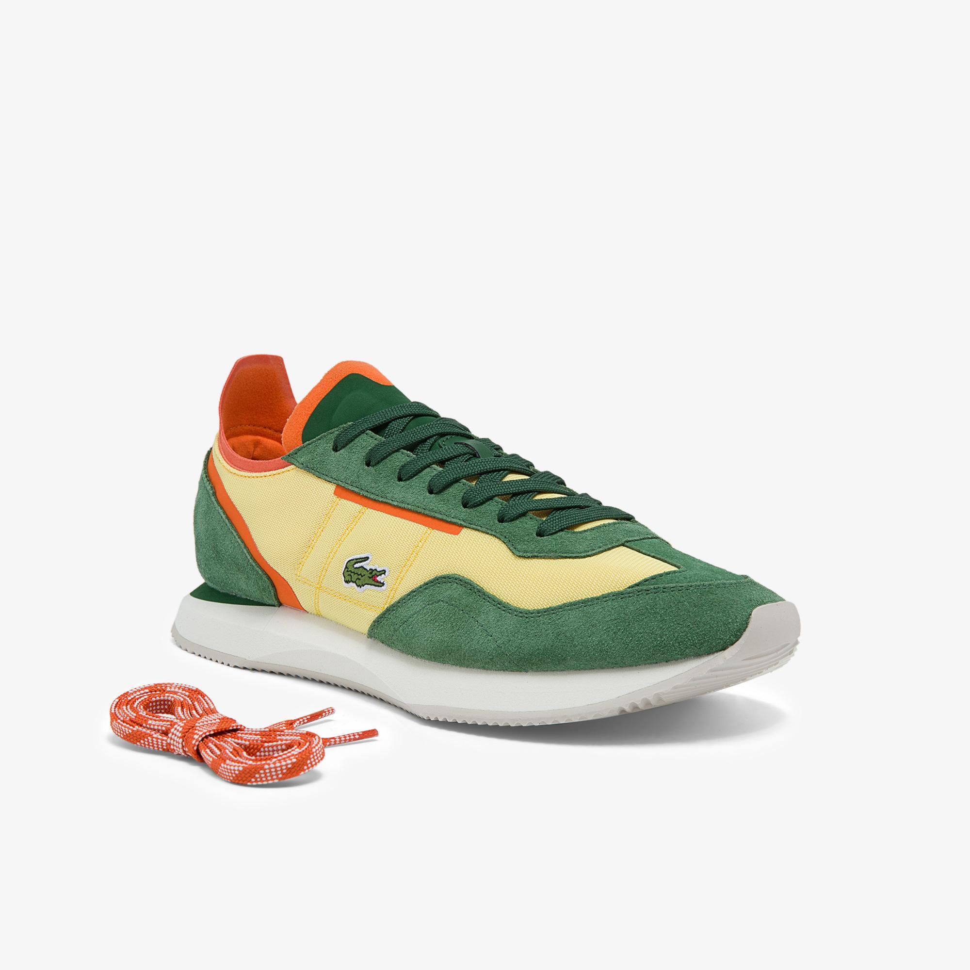 Lacoste Match Break 01213 Qsp Sma Erkek Sarı - Yeşil Sneaker