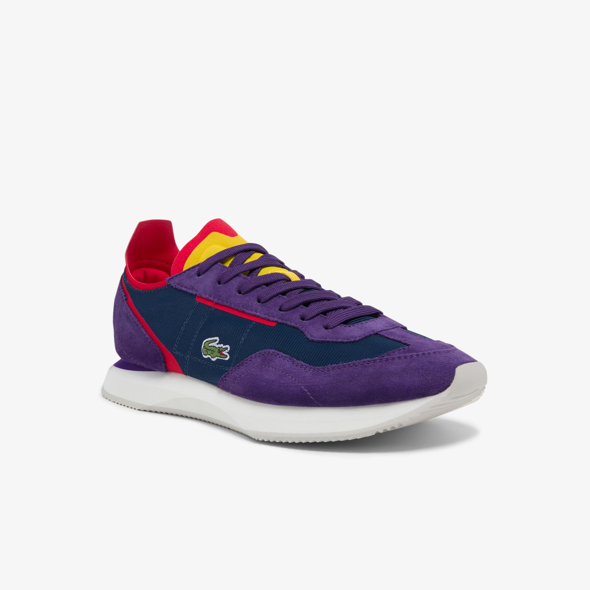 Lacoste Match Break 0121 4 Sma Erkek Lacivert - Mor Sneaker