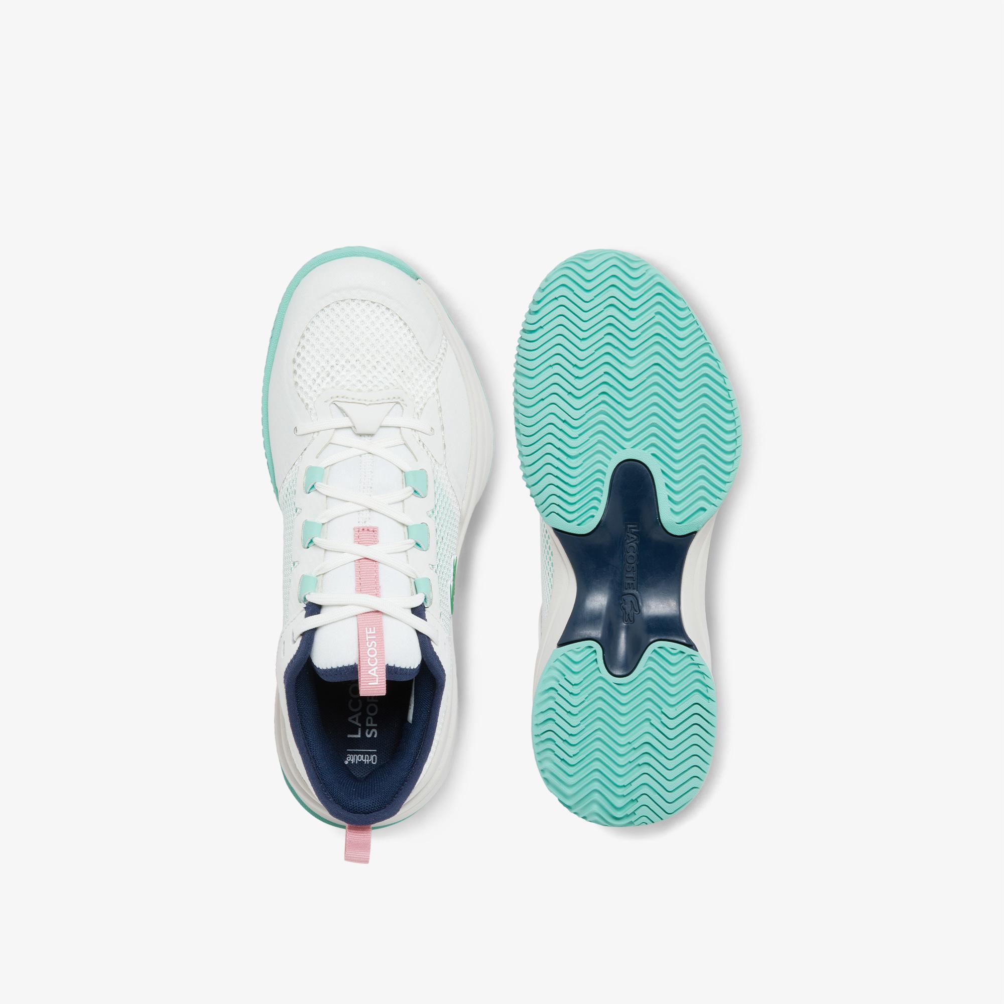 Lacoste Ag-Lt 21 0121 1 Sfa Kadın Beyaz - Mavi Sneaker