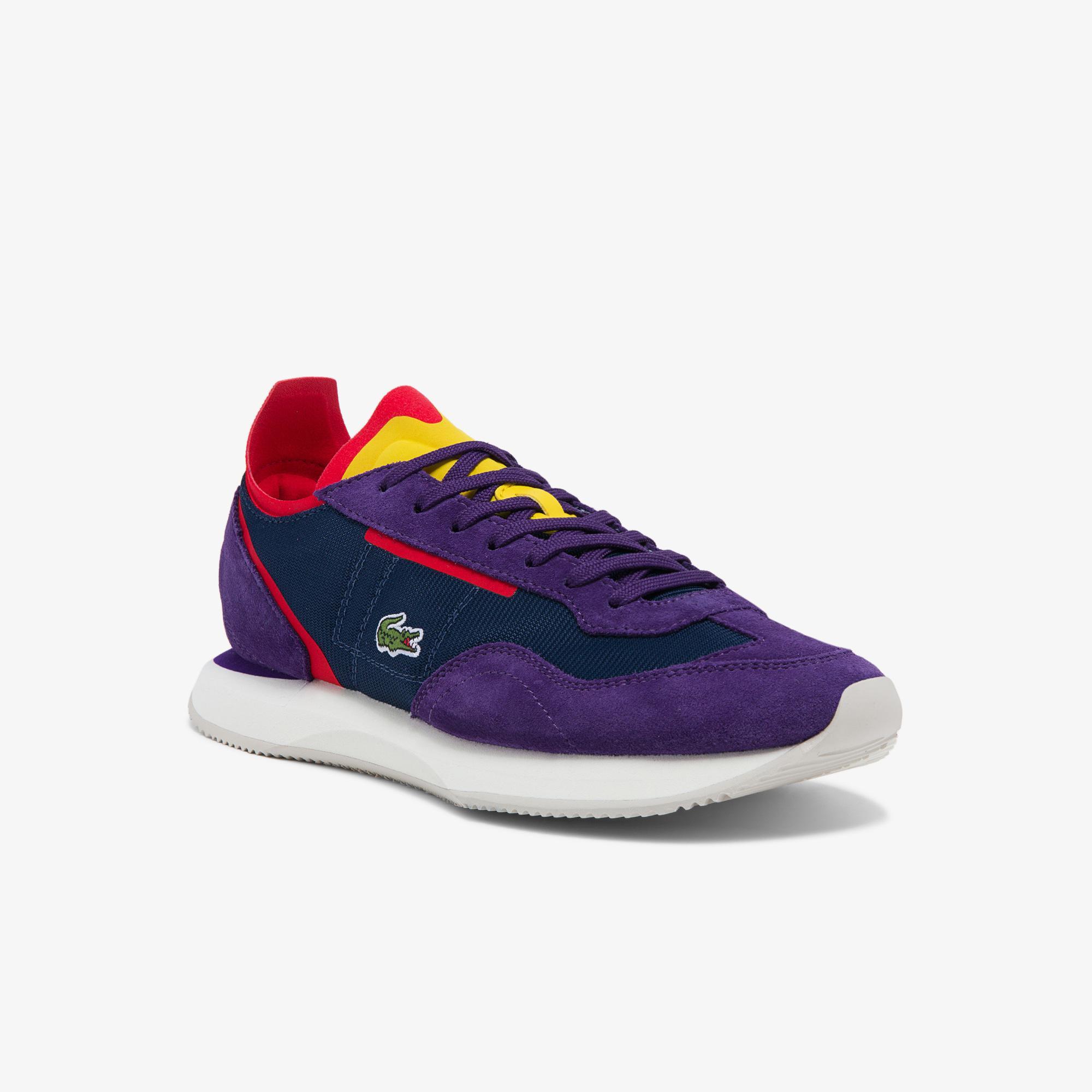 Lacoste Match Break 0121 3 Sfa Kadın Lacivert - Mor Sneaker