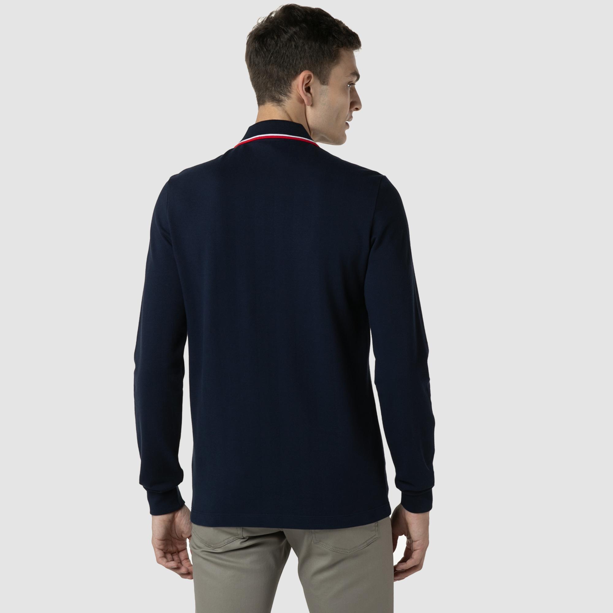 Lacoste Erkek Regular Fit Uzun Kollu Lacivert Polo