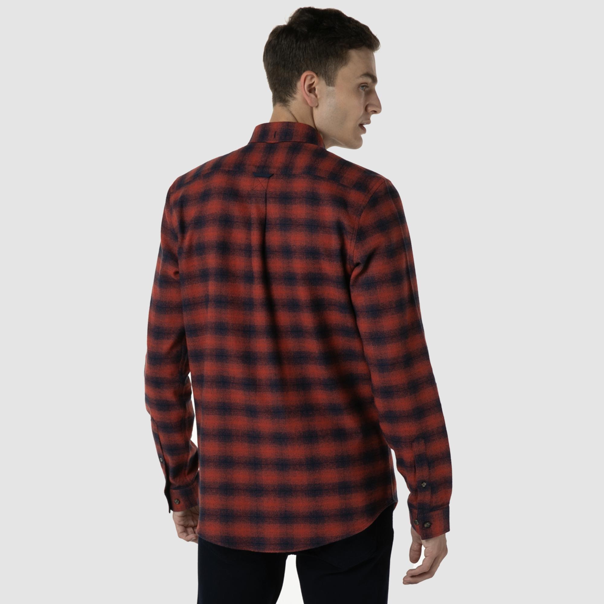 Lacoste Erkek Slim Fit Ekose Kırmızı Gömlek
