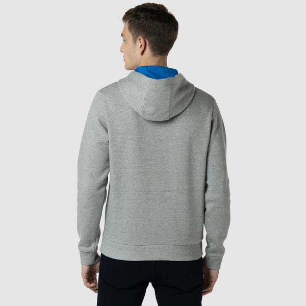 Lacoste Erkek Relaxed Fit Kapüşonlu Nakışlı Gri Sweatshirt