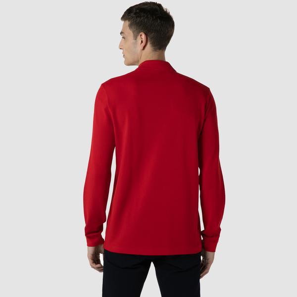 Lacoste Erkek Classic Fit Uzun Kollu Kırmızı Polo