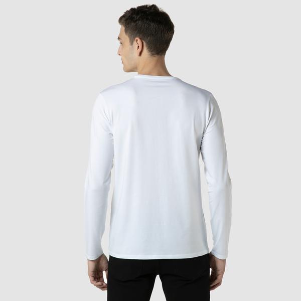 Lacoste Erkek Regular Fit Uzun Kollu Bisiklet Yaka Beyaz T-Shirt