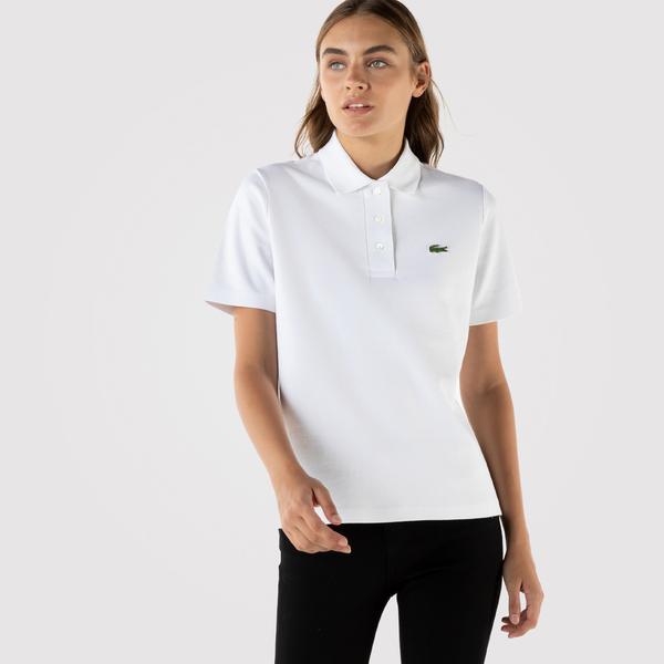 Lacoste Kadın Regular Fit Beyaz Polo