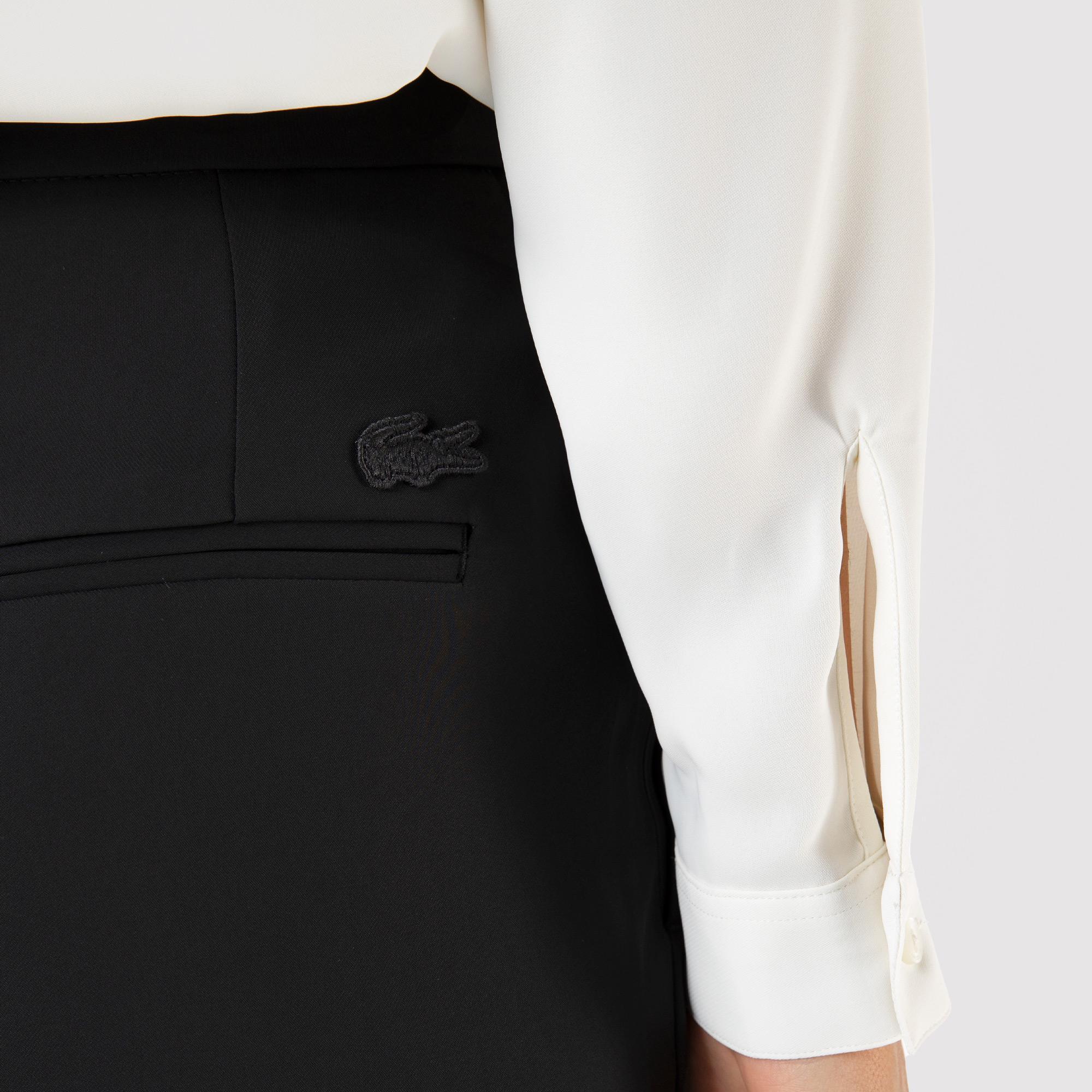 Lacoste Kadın Carrot Fit Siyah Pantolon