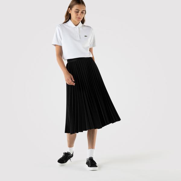 Lacoste Kadın Loose Fit Siyah Etek
