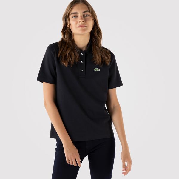 Lacoste Kadın Regular Fit Lacivert Polo