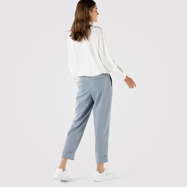 Lacoste Kadın Relaxed Fit Mavi Pantolon