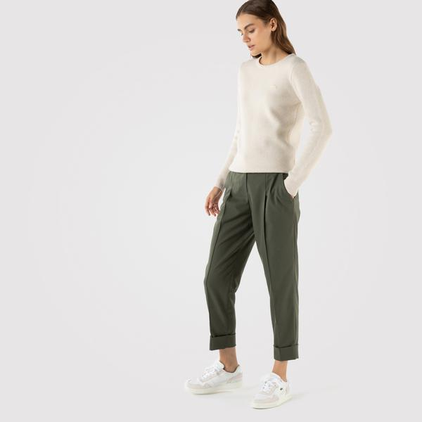 Lacoste Kadın Relaxed Fit Haki Pantolon