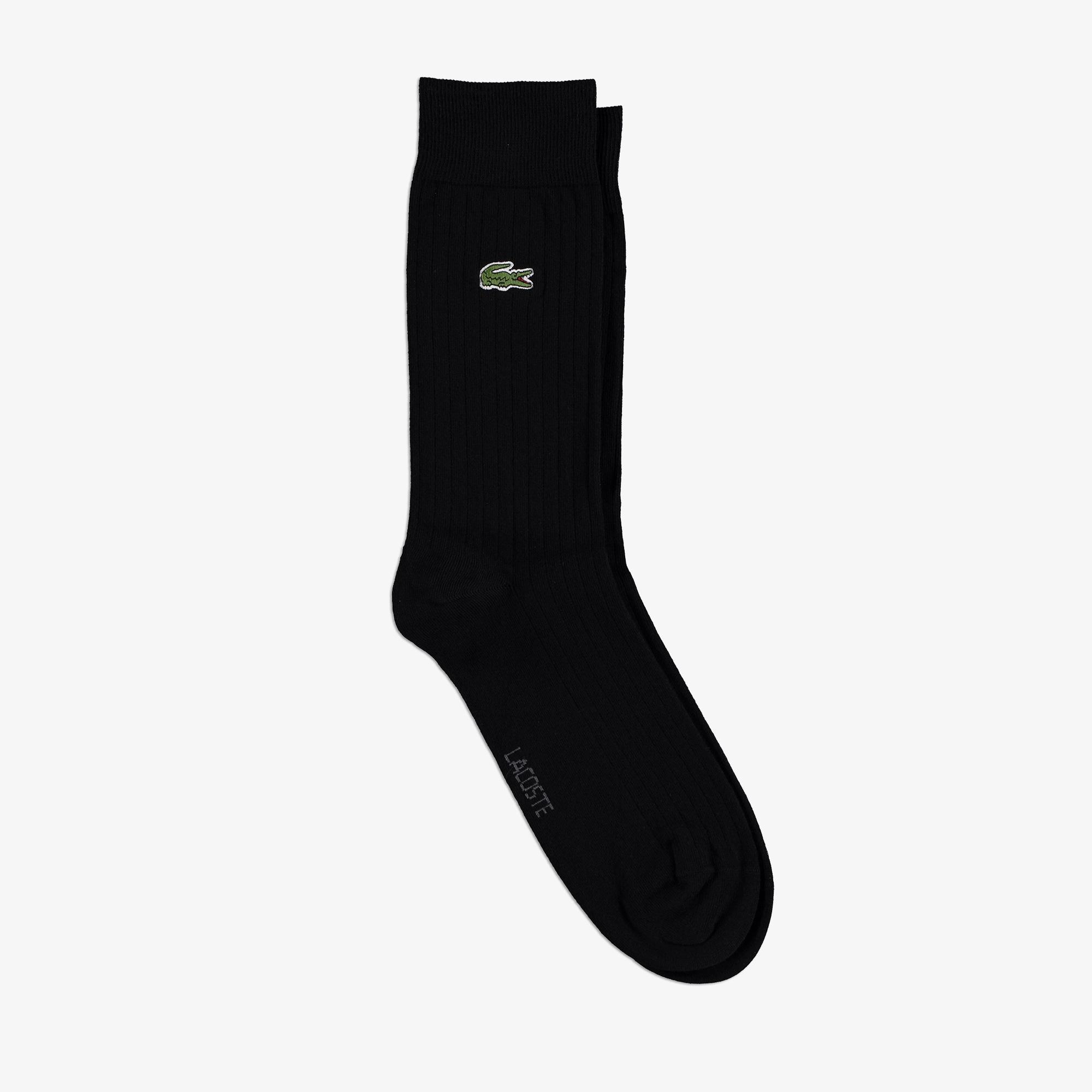 Lacoste Erkek Uzun Siyah Çorap