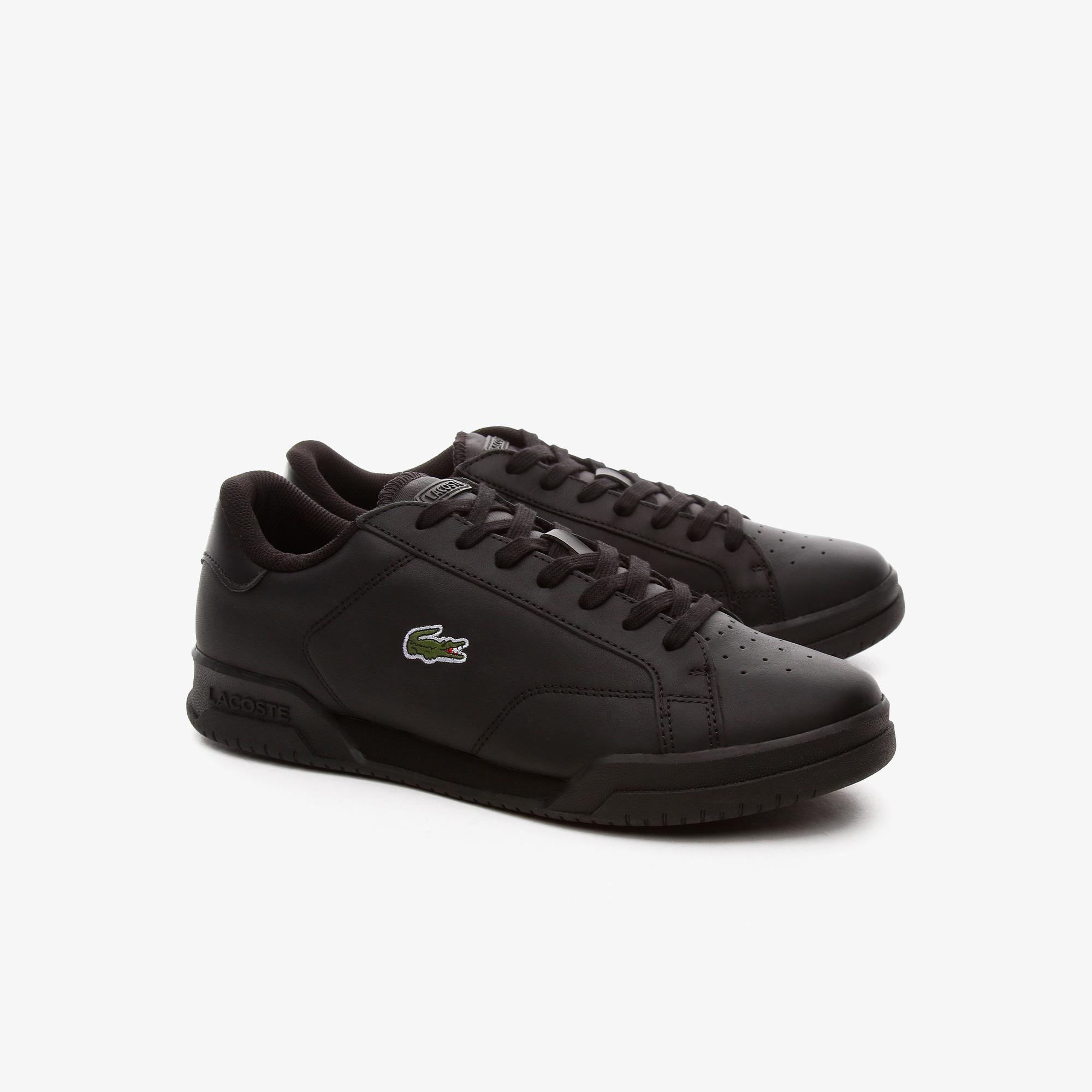 Lacoste Twin Serve 0721 2 Sma Erkek Deri Siyah Sneaker