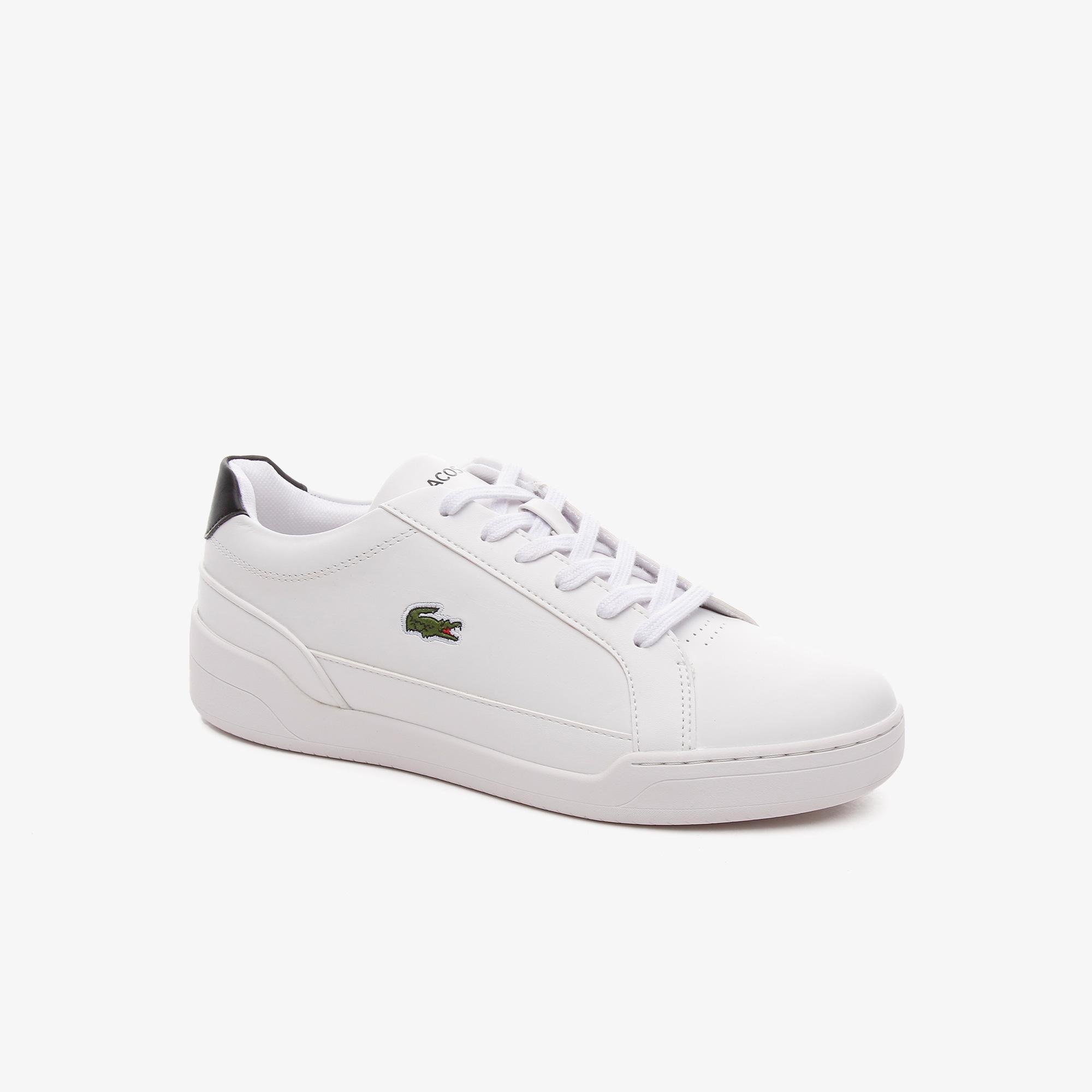 Lacoste Challenge 0121 1 Sfa Kadın Deri Beyaz - Siyah Sneaker
