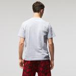 Lacoste Erkek Relaxed Fit Bisiklet Yaka Gri T-Shirt