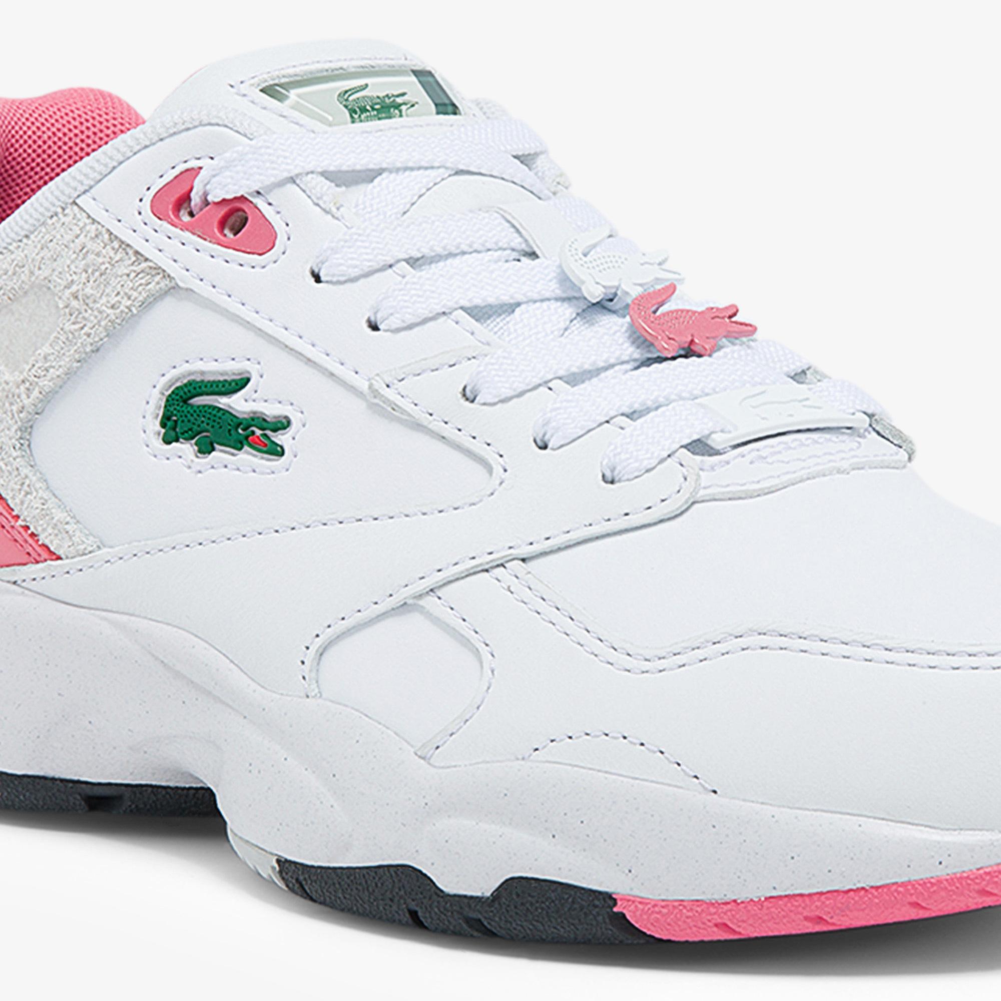 Lacoste Storm 96 Lo 0121 1 Sfa Kadın Beyaz - Pembe Sneaker