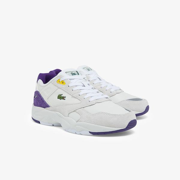 Lacoste Storm 96 Lo 0121 3 Sfa Kadın Beyaz - Mor Sneaker
