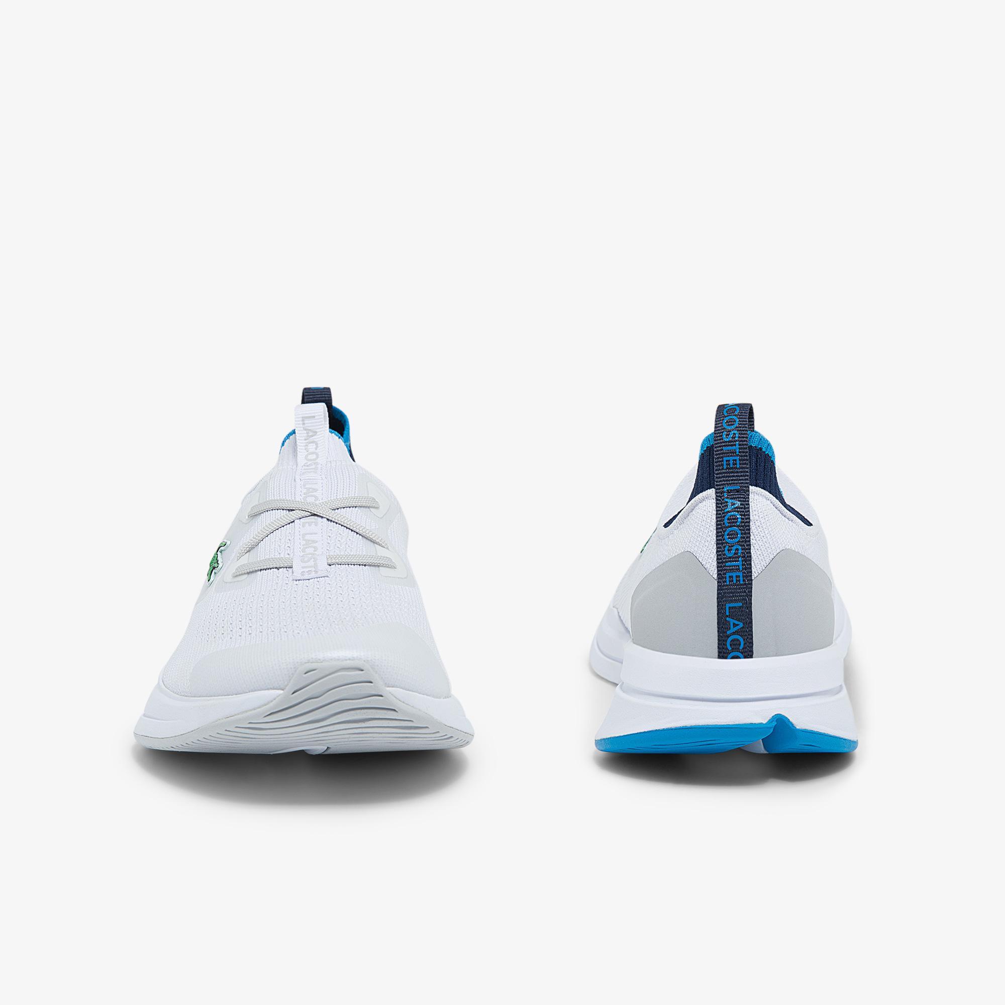Lacoste Run Spin Knit 0121 1 Sfa Kadın Beyaz - Mavi Sneaker