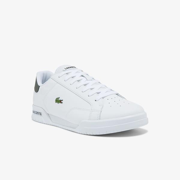 Lacoste Twin Serve 0121 1 Sma Erkek Beyaz Sneaker