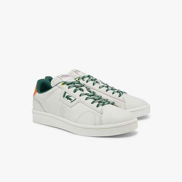 Lacoste Masters Classic 01211Psma Erkek Beyaz - Turuncu Sneaker