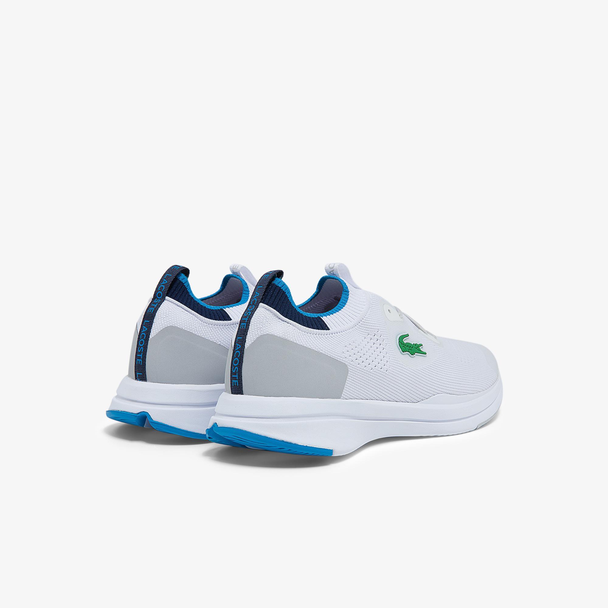 Lacoste Run Spin Knit 0121 1 Sma Erkek Beyaz - Mavi Sneaker