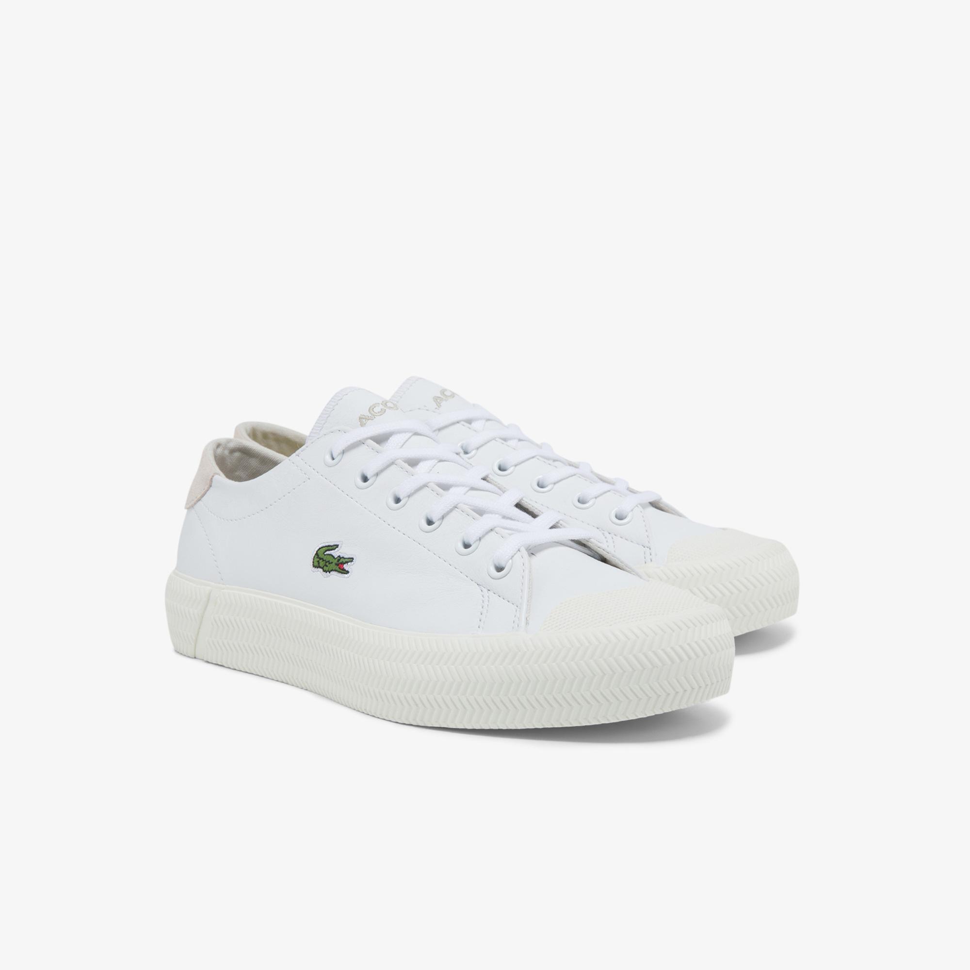 Lacoste Gripshot 0121 1 Cfa Kadın Deri Beyaz Sneaker