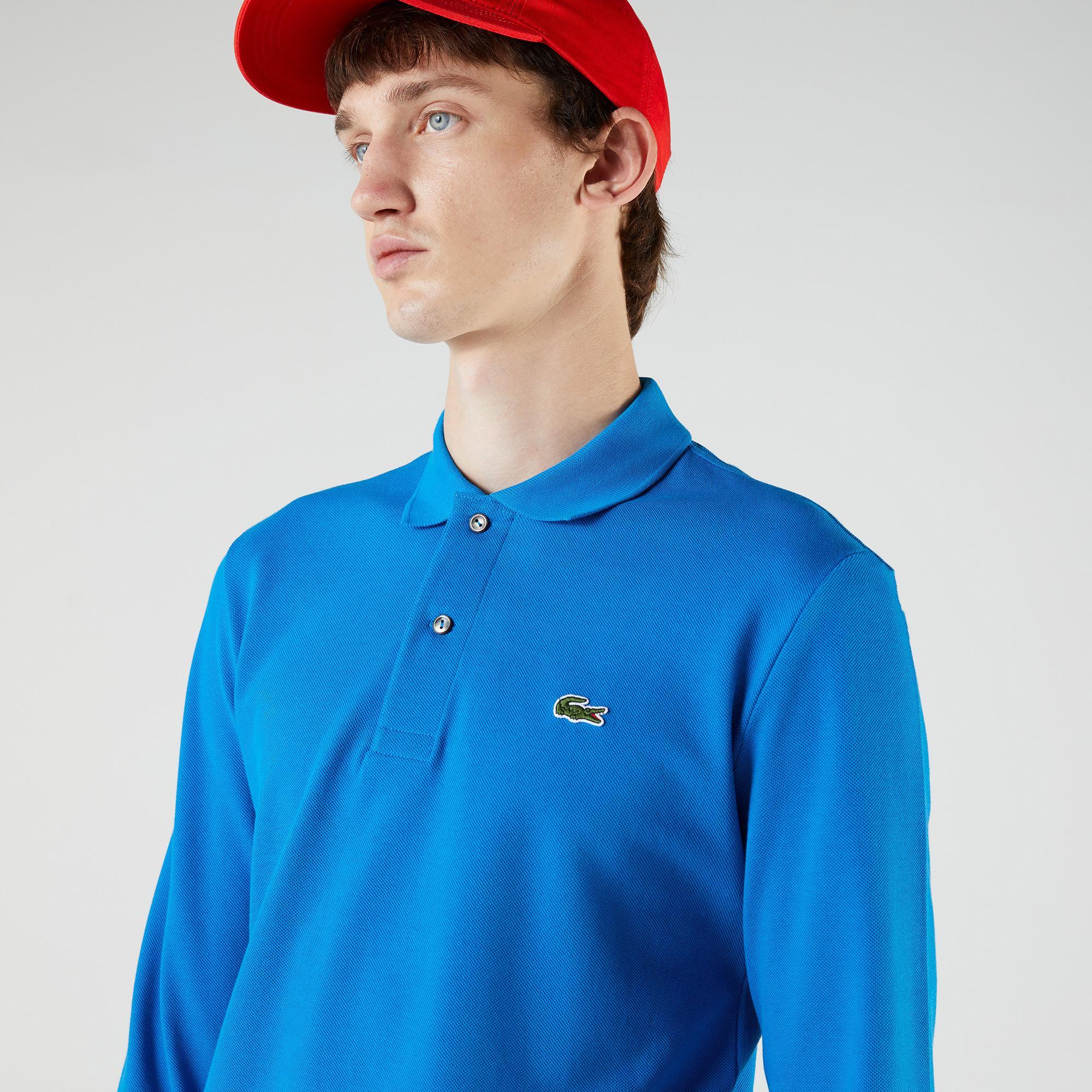 Lacoste Erkek Classic Fit Uzun Kollu Mavi Polo