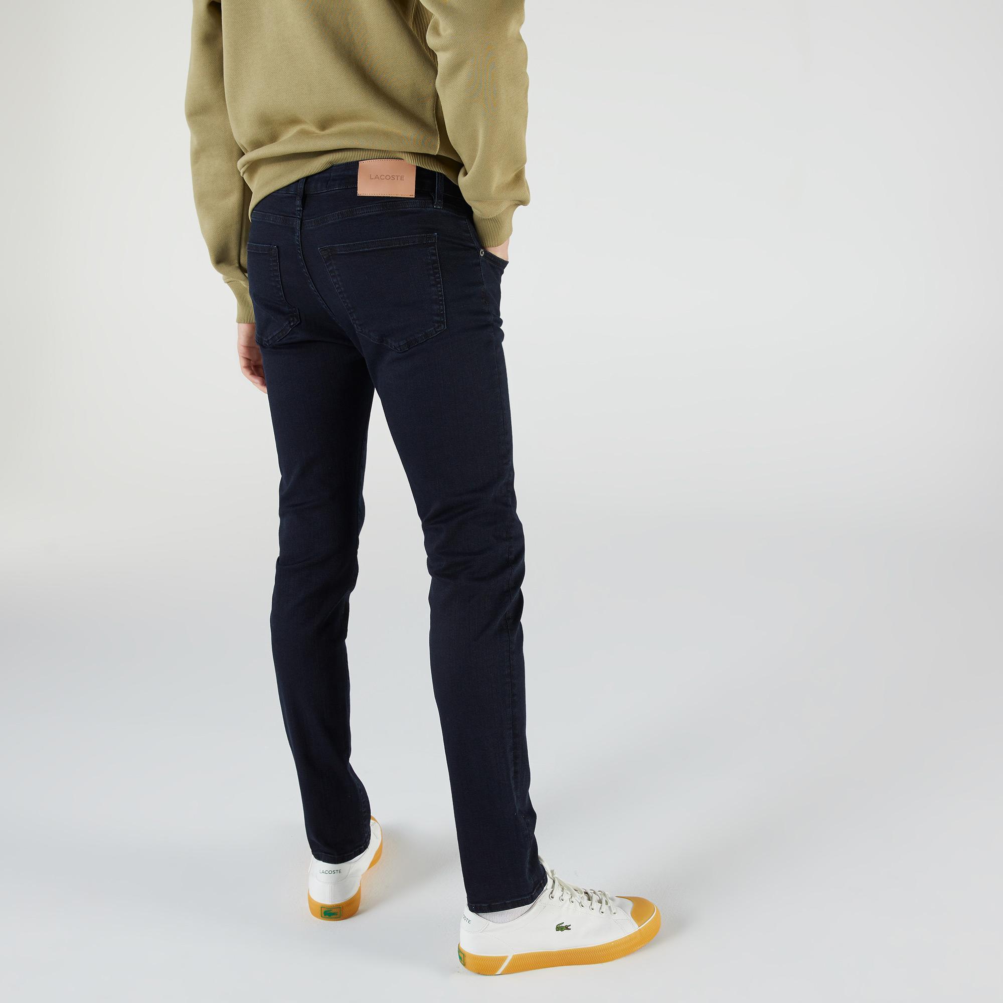 Lacoste Erkek Slim Fit İndigo Denim Pantolon