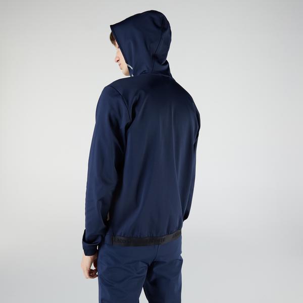 Lacoste Erkek Slim Fit Fermuarlı Lacivert Sweatshirt