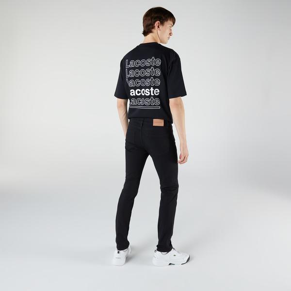 Lacoste Erkek Slim Fit Siyah Denim Pantolon