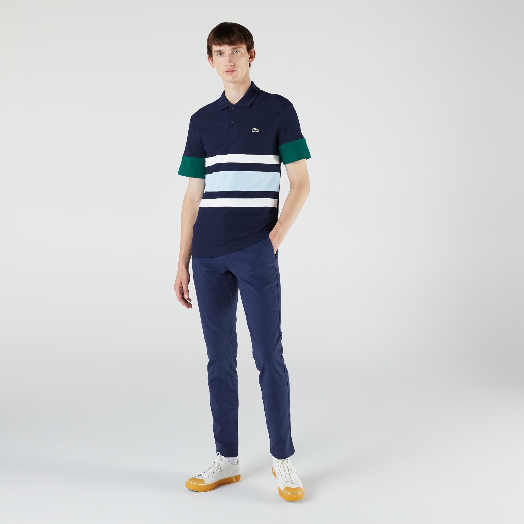 Lacoste Heritage Erkek Slim Fit Renk Bloklu Lacivert Polo
