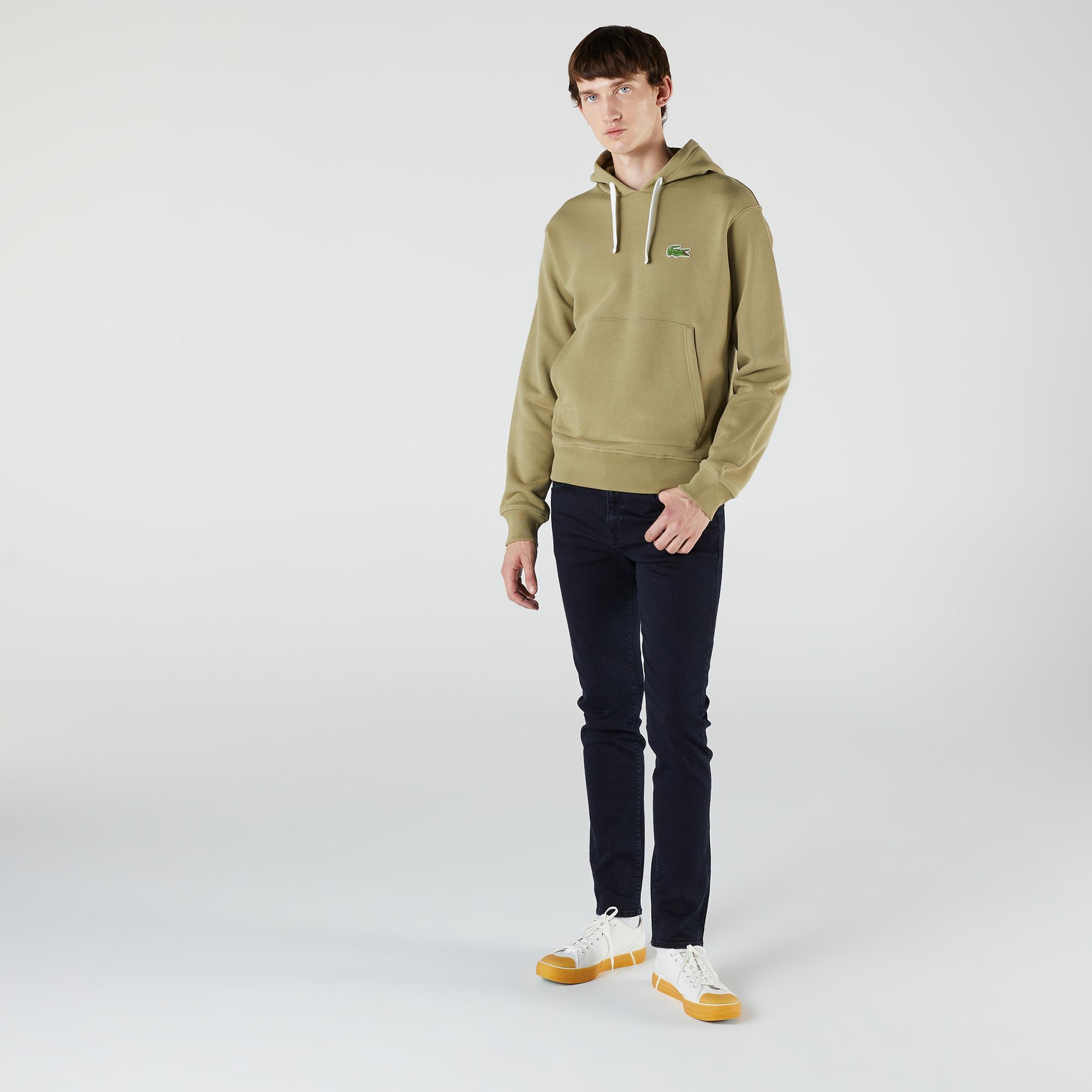 Lacoste Unisex Classic Fit Kapüşonlu Haki Sweatshirt