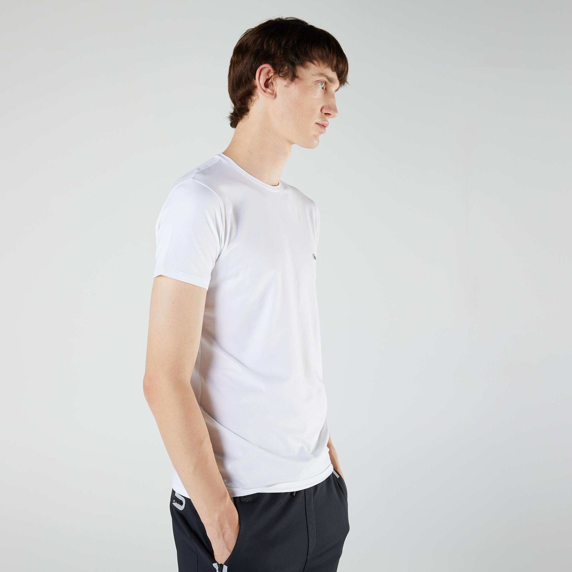 Lacoste Erkek Regular Fit Bisiklet Yaka Beyaz T-Shirt