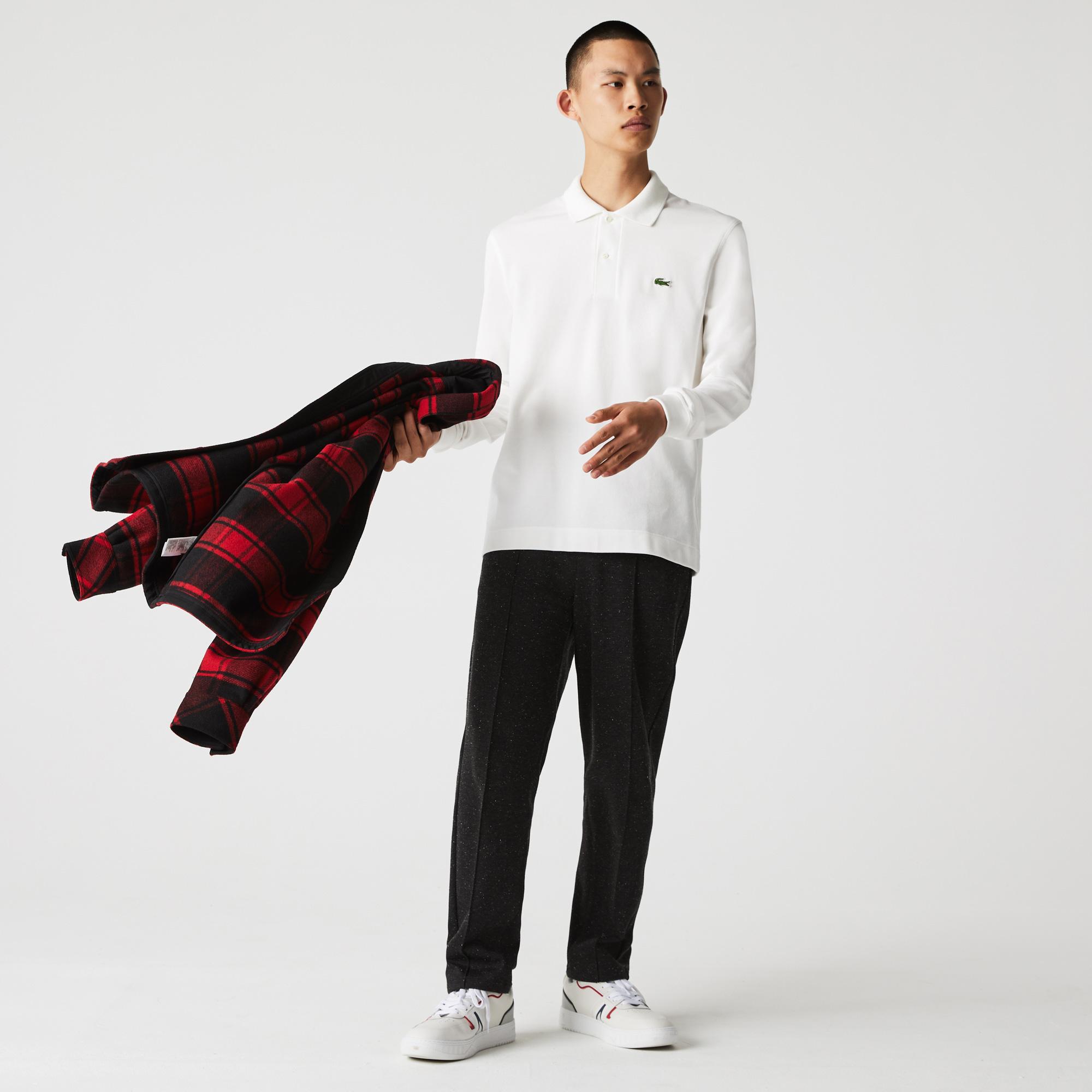 Lacoste Erkek Classic Fit Uzun Kollu Beyaz Polo