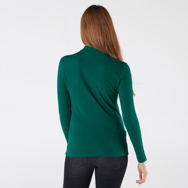 Lacoste Kadın Slim Fit Uzun Kollu Yeşil Polo