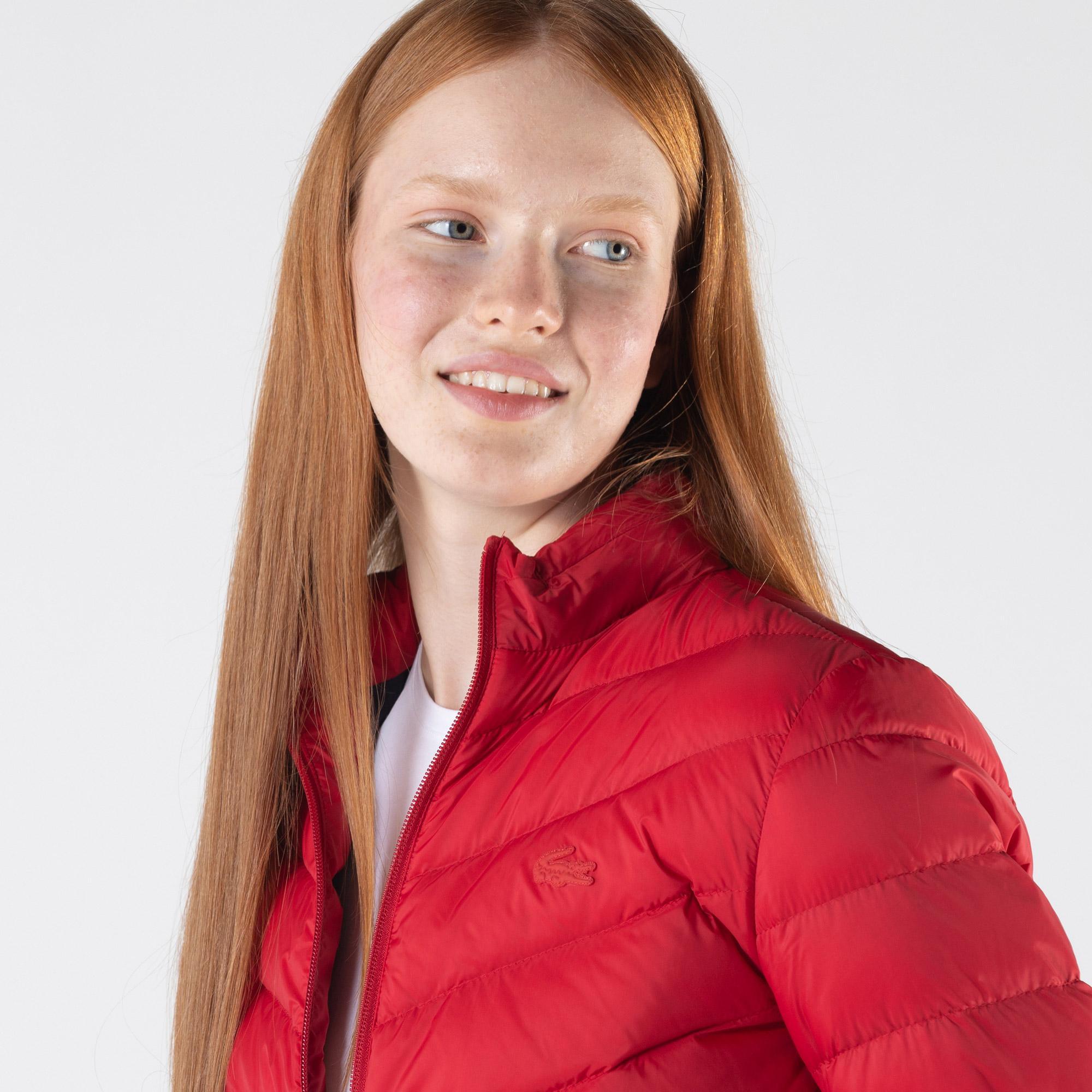Lacoste Kadın Kapitone Kırmızı Mont