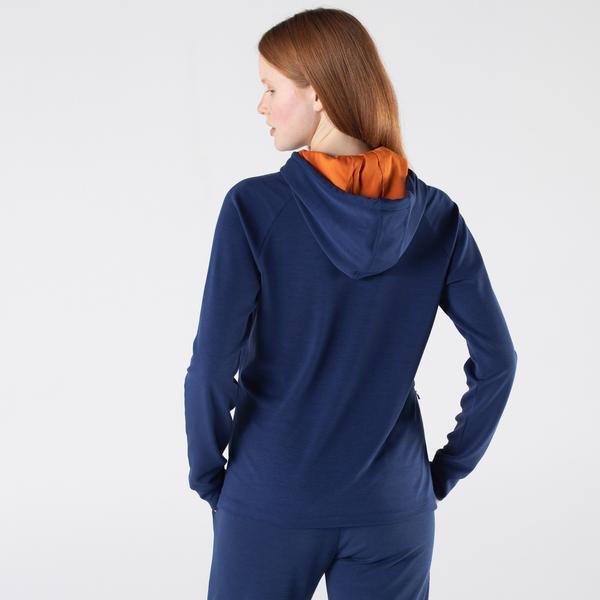 Lacoste Kadın Relaxed Fit Kapüşonlu Baskılı Lacivert Sweatshirt