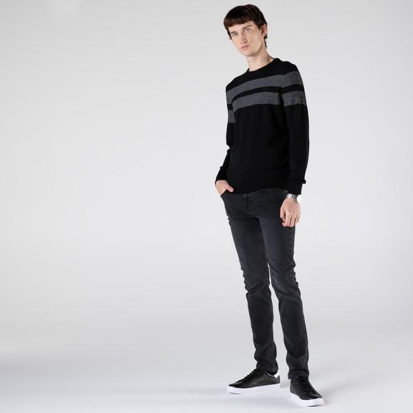 Lacoste Erkek Slim Fit Koyu Gri Denim Pantolon