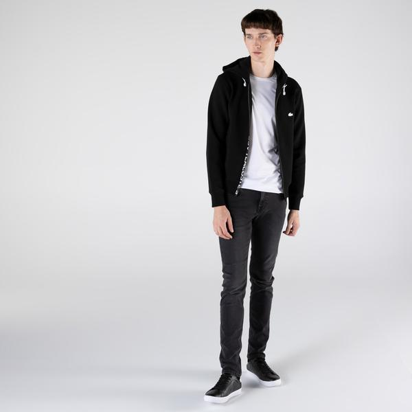 Lacoste Erkek Classic Fit Fermuarlı Siyah Sweatshirt