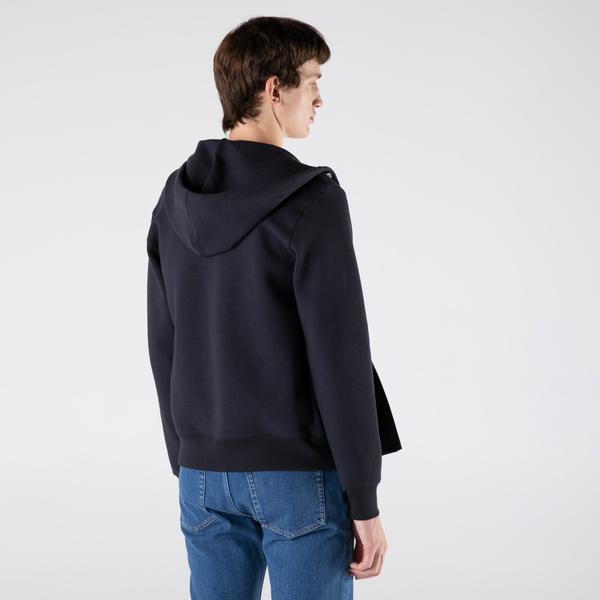 Lacoste Erkek Classic Fit Fermuarlı Lacivert Sweatshirt
