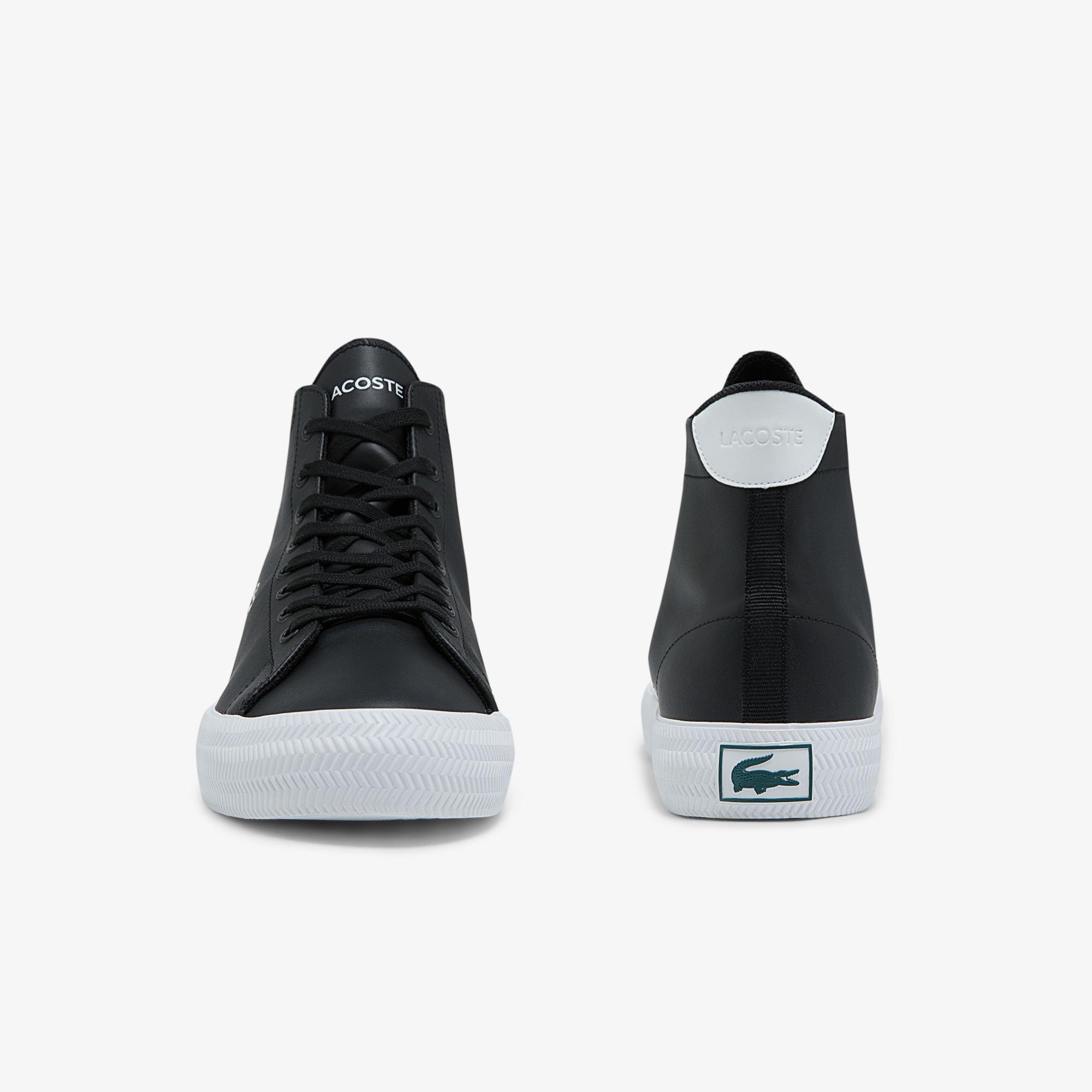 Lacoste Gripshot Mid 0320 2 Cma Erkek Deri Siyah - Beyaz Sneaker