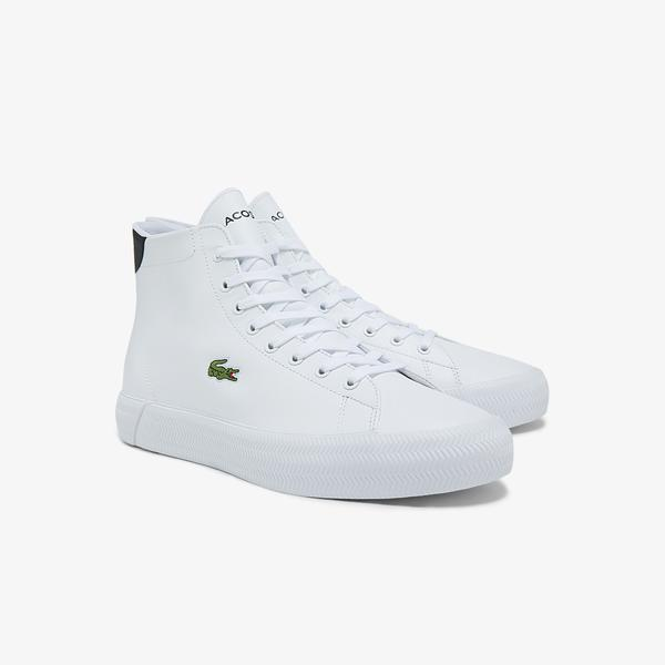 Lacoste Gripshot Mid 0320 2 Cma Erkek Deri Beyaz - Siyah Sneaker