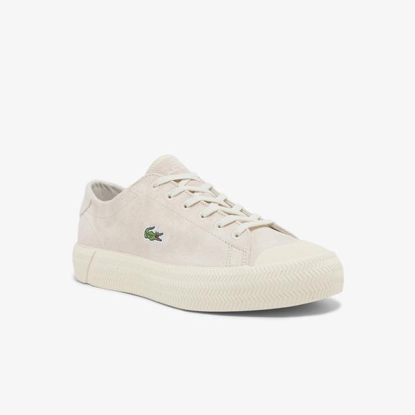 Lacoste Gripshot 0321 1 Cfa Kadın Deri Beyaz - Kahverengi Sneaker