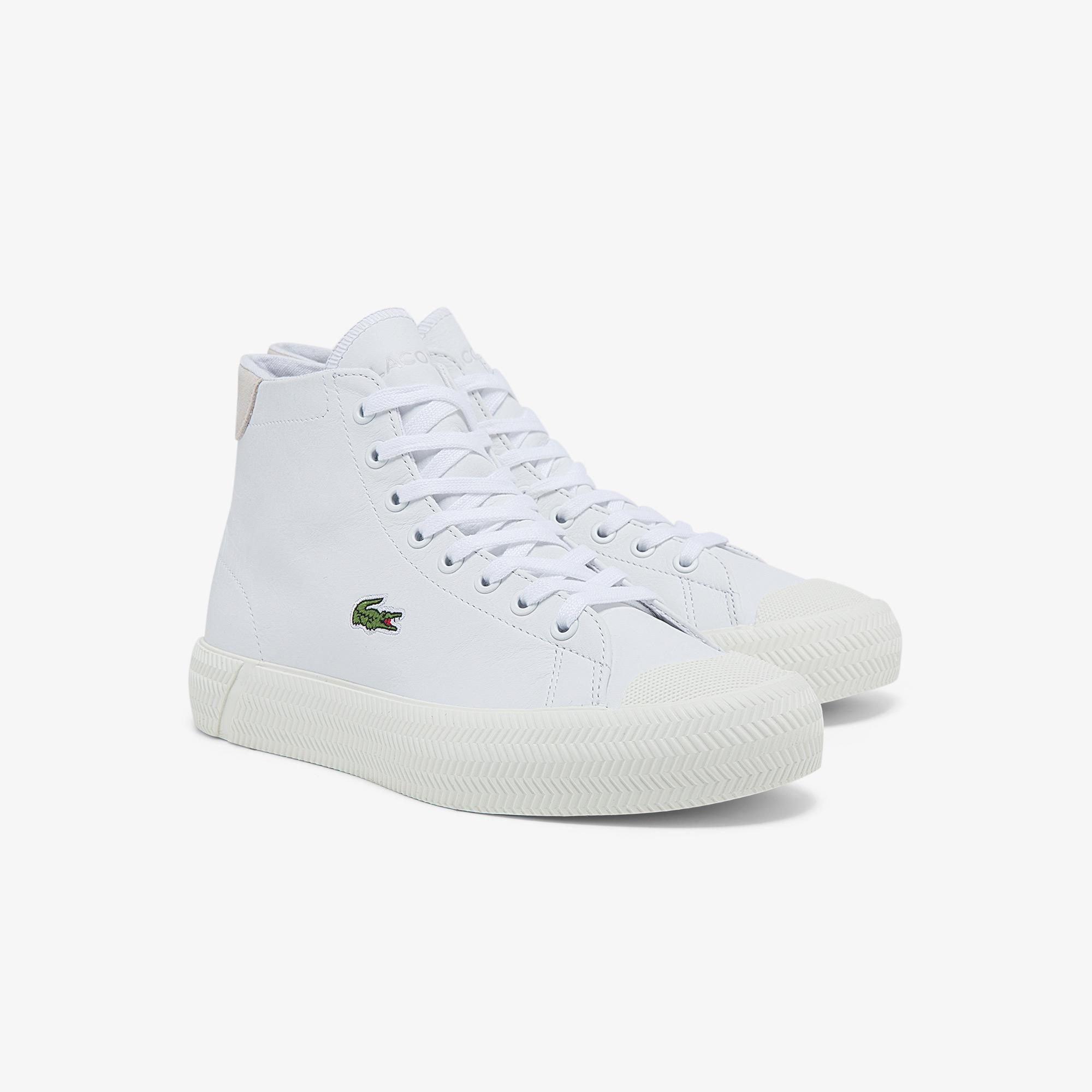 Lacoste Gripshot Mid 0321 1 Cfa Kadın Deri Beyaz Sneaker